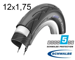 Покрышка 12x1.75 (47-203) Schwalbe KID PLUS PunctureGuard B/B HS413 NMC, 50EPI