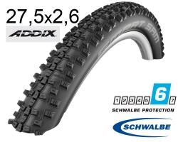 Покрышка 27.5x2.60 650B (65-584) Schwalbe SMART SAM Performance DD Folding B/B-SK HS476 Addix, 67EPI 35B EK