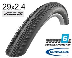Покрышка 29x2.40 (62-622) Schwalbe HURRICANE Performance, DD, RaceGuard B/B-SK+RT HS499 ADDIX 67EPI B