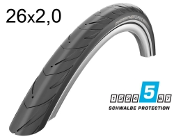 Покрышка 26x2.00 (50-559) Schwalbe MARATHON SUPREME V-Guard Evolution Folding B/B-SK+RT HS469 OSC, 67EPI EK
