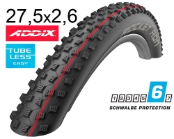 Покрышка 27.5x2.60 (65-584) Schwalbe ROCKET RON SnakeSkin, TL-Easy, Folding Evolution B/B-SK HS438 Addix Spgrip 67EPI EK