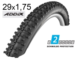 Покрышка 29x1.75 (47-622) Schwalbe SMART SAM Performance B/B-SK HS476 Addix, 67EPI