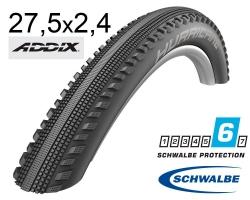 Покрышка 27.5x2.40 650B (62-584) Schwalbe HURRICANE Performance, DD, RaceGuard B/B-SK+RT HS499 ADDIX 67EPI B