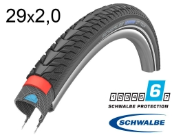 Покрышка 29x2.00 (50-622) Schwalbe MARATHON GT Tour DualGuard, TwinSkin B/B+RT HS485 EC 67EPI 35B
