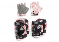 Защита для детей Green Cycle MIA наколенники, налокотники, перчатки, розовый