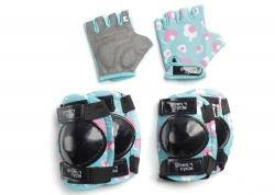 Защита для детей Green Cycle MIA наколенники, налокотники, перчатки, бирюзовый