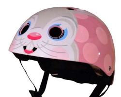 Шлем детский Kiddimoto Bunny, размер S 48-53см