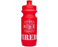 Фляга 0,6 Green Cycle Firedivision с большим соском, red nipple/ red cap/ red bottle