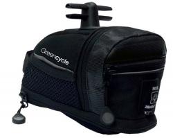 Сумка подседельная Green Cycle Saddle bag M black