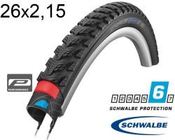 Покрышка 26x2.15 (55-559) Schwalbe MARATHON GT 365 Perf, DualGuard, TwinSkin B/B+RT HS475 FS 67EPI 36B