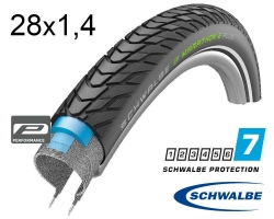 Покрышка 28x1.40 700x35C (37-622) Schwalbe MARATHON E-PLUS Smart DualGuard, TwinSkin, B/B+RT HS498 ADDIX E 67EPI 28B