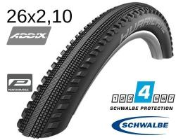 Покрышка 26x2.10 (54-559) Schwalbe HURRICANE Performance, RaceGuard B/B-SK+RT HS499 ADDIX 67EPI B