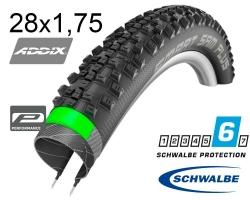 Покрышка 28x1.75 (47-622) Schwalbe SMART SAM PLUS DD, GreenGuard B/B-SK HS476 ADDIX 67EPI B