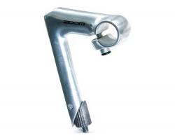 Вынос руля ZOOM HE-C80D-2/ISO-C под резьбовую вилку 1 (22,2мм),  руль 25,4мм 80x150мм 17град алюмин. серебр.