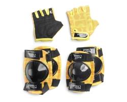 Защита для детей Green Cycle Flash наколенники, налокотники, перчатки, желтый