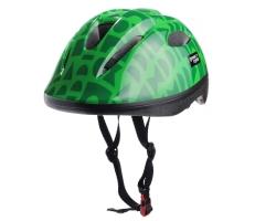 Шлем детский Green Cycle FLASH размер 50-54см зеленый лак