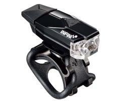 Мигалка передняя Infini MINI LAVA I-261W-BK, 1 светодиод, 4 режима, USB кабель, с крепл.