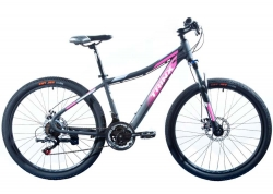 Велосипед Trinx 26 N106 Nana рама - 15.5 2021 Matt-Black-Pink-Grey