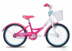 Велосипед 20&quot Pride Sandy Белый/лайм/бирюзовый Лак 2017