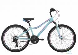 Велосипед 24 Pride Lanny 21 Чёрный/малиновый/голубой Лак 2018