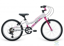 Велосипед 20 Apollo Neo 6s girls Brushed Alloy / Navy Blue / Lavender 2018