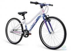 Велосипед 24 Apollo Neo 3i girls Brushed Alloy / Purple / Black 2018