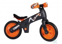 Беговел 12 Bellelli B-Bip обучающий 2-5лет, пластмассовый, бежевый с оранжевыми колёсами