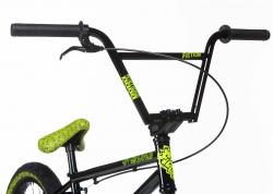 Велосипед 20 Stolen OVERLORD 2020 BLACK W/ REFLECTIVE YELLOW