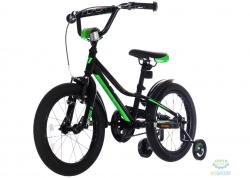Велосипед 16&quot Pride Flash Чёрный/зеленый/белый Лак 2017