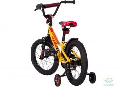 Велосипед 16&quot Pride Flash Жёлтый/красный/чёрный Лак 2017