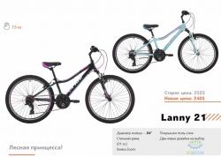 Велосипед 24&quot Pride Lanny 21 Чёрный/малиновый/голубой Лак 2017