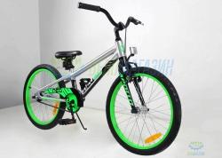 Велосипед 20 Apollo Neo boys Brushed Alloy / Black / Neon Green 2018
