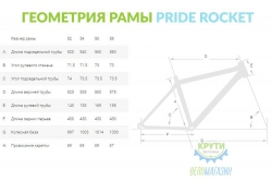 Велосипед 28'' 52 см PRIDE ROCKET SORA черно-синий 2016