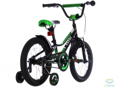 Велосипед 16 Pride Flash черный/зеленый/белый 2018