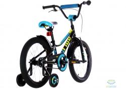 Велосипед 18 Pride Oliver черный/голубой/лайм 2018