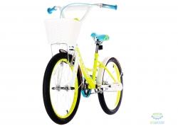 Велосипед 20 Pride Sandy белый/лайм/бирюзовый 2018