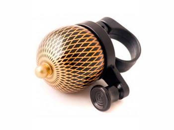 Звонок TW JH-808-3 Восточный, с ударным рычагом под большой палец, коричнево-золотистый