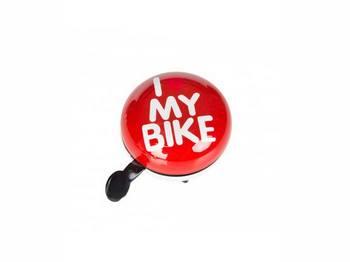 Динг-Донг Green Cycle GCB-1058S I love my bike, d 80mm, красн.