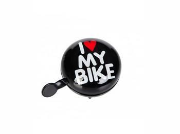 Динг-Донг Green Cycle GCB-1058S I love my bike, d 80mm, черн