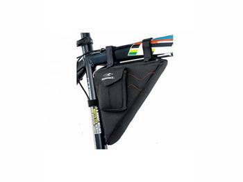 Сумка Konnix TY-09133BR треугольная, наружный карман для ценных предметов, размер: 27x6x15cm, черный