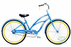 Велосипед 26 ELECTRA Hawaii Custom 3i (Алюм) Ladies Blue metallic