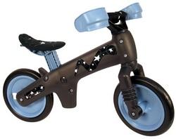 Велосипед (беговел) Bellelli B-Bip обучающий 2-5лет, пластмассовый, чёрный с синими колёсами