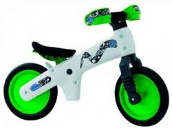 Велосипед (беговел) BELLELLI B-Bip Pl пластмасс. Бело-зел.