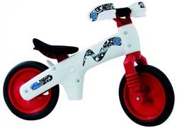 Велосипед (беговел) Bellelli B-Bip обучающий 2-5лет, пластмассовый, белый с красными колёсами