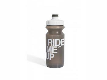 Фляга 600ml Green Cycle Ride Me Up с Big Flow valve, LDPI gray nipple/white matt cap/gray bottle