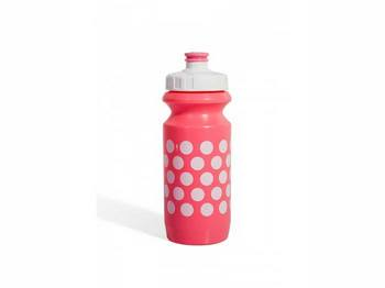 Фляга 0,6 Green Cycle Polka Dot с Big Flow valve, LDPE light pink nipple/ white matt cap/light pink matt bottle