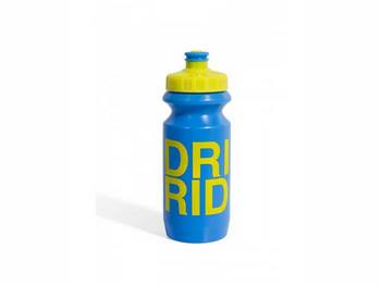 Фляга 600ml Green Cycle Drink & Ride с Big Flow valve, LDPI blue nipple/ yellow matt cap/ blue matt bottle