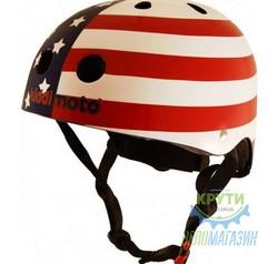Шлем детский Kiddimoto флаг USA, размер M 53-58см