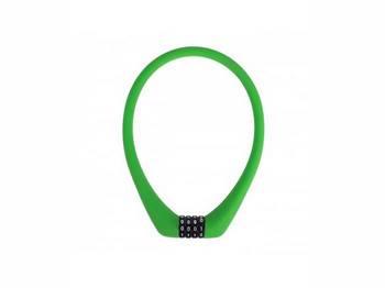 Кодовый замок Green Cycle GCL-SC1 в силиконовой обойме с тросом 12х50см зеленый