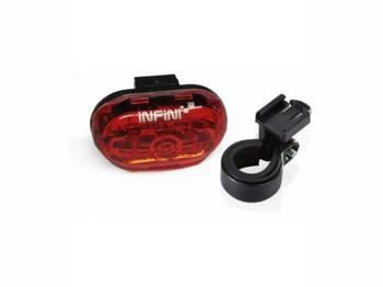 Фонарь светодиодн задн +батар. INFINI I-402 5 светодиодов, 4 реж, крепл.